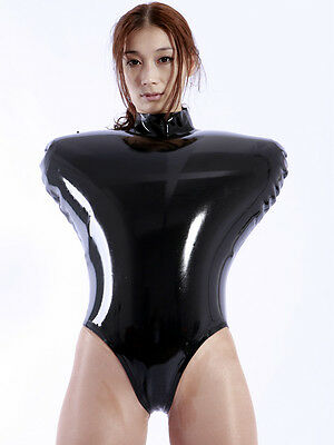 773 Latex Gummi Rubber Inflatable Top Leotard clothing customized 0.4mm costume