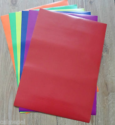 Peel and Stick A4 Coloured Paper 12 Sheets of mixed Bright Colours