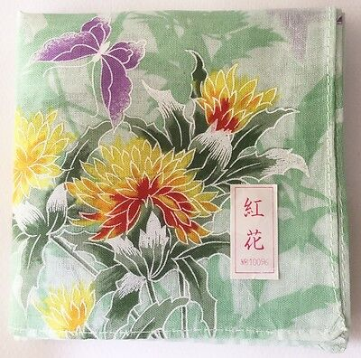 New Handkerchief Art Purple Butterfly Japanese Women's Pocket Square Scarf~16""