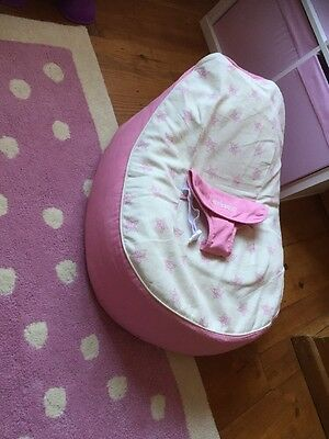 Bambeano® Baby Bean Bag Support Chair - Pink - With FREE My 1st Bean Bag Cover