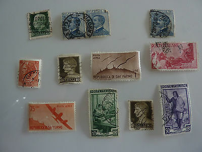 Lot of 10 Old Stamps Italy Italia All Pictured Ref S29