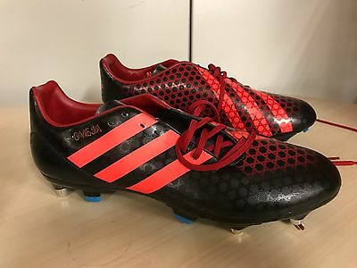 adidas Incurza SG Rugby Boots UK 11 Black/Red rrp £65