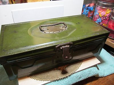 "Vintage ""as is"" olive green toned Union Utility Chest/Storage Box."