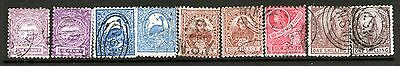 New South Wales  1888 issue to 1/- used