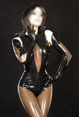 316 Latex Gummi Rubber Catsuit rompers gloves jumpsuits customized 0.4mm sexy