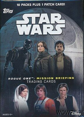 2016 Topps Star Wars Rogue One Mission Briefing EXCLUSIVE Retail Box-PATCH !