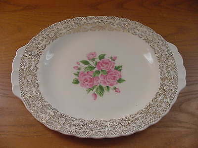 Sebring American Limoges China Bouquet 14 Inch Oval Platter