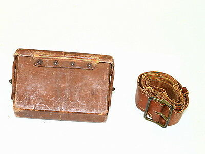 Japanese Arisaka Ammo Pouch and Military Belt ORIGINAL