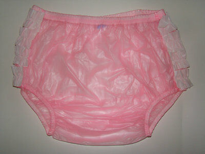 New Soft Adult Baby PVC frilly pull-on Plastic Pants #P003-5 Size: XLarge