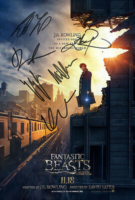 FANTASTIC BEASTS POSTER Movie Film Dvd Signed Autograph Photo Reproduction Print