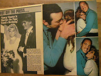 Nancy Sinatra, Lot of TWO Full Page Vintage Clippings