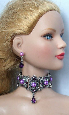 New American  Model Doll Necklace Jewelry Set **sale** Free S&h