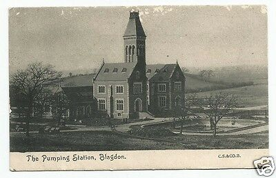 EAP Early Postcard, The Pumping Station, Blagdon, Somerset - fault