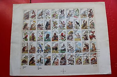 USA   WILDLIFE SHEET   50 states First Day Cover 1987 First release in Canada