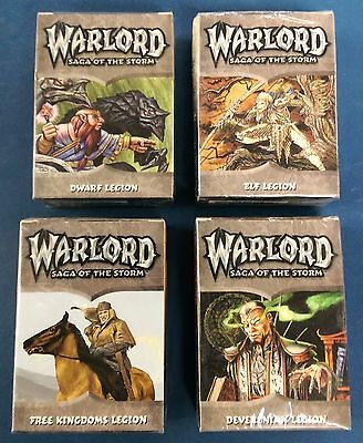 Warlord - Saga of the Storm Trading Card Game, 4 Starter Decks (englisch)
