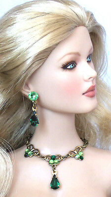 Tyler Sydney Crystal Green Jewelry Set ***sale**
