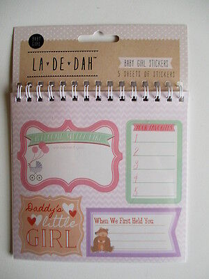 La De Dah Baby Girl sticker Flip Book - 5 sheets