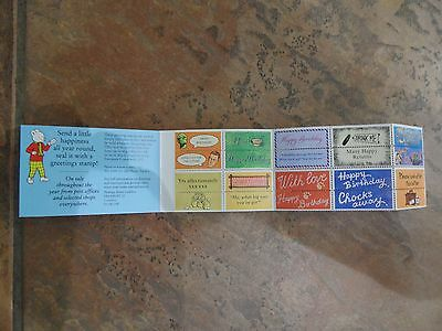 """Gb Royal Mail Greetings """"messages"""" Labels & Booklet"""" Kx6.1994. Mnh. No Stamps."""