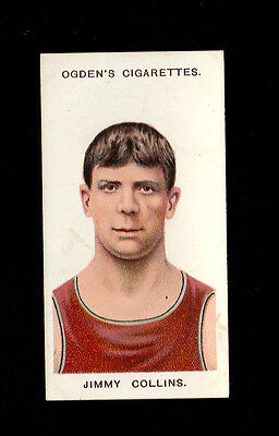 "OGDEN'S 1908 SCARCER ( BOXING ) TYPE CARD "" # 32 JIMMY COLLINS -- 1st SERIES """