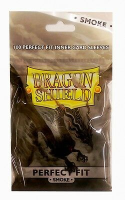 100 Dragon Shield Standard Perfect Fit Sleeves Smoke/Clear (63x88mm)