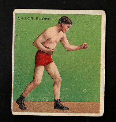 """A.t.c. 1910 Scarce ( Boxing ) Type Card """" Sailor Burke -- Prize Fighters """""""