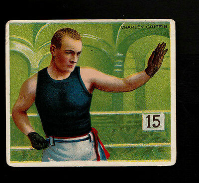 """A.t.c. 1910 Scarce ( Boxing ) Type Card """" Charley Griffin -- Prize Fighters """""""