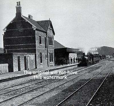 Clifden Railway Station Ireland 1897 Vintage Mounted Print History Ancestry