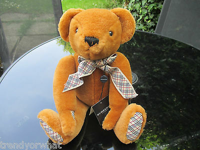 STUNNING VINTAGE AUTHENTIC BURBERRY TEDDY BEAR BAG Christmas GIFT