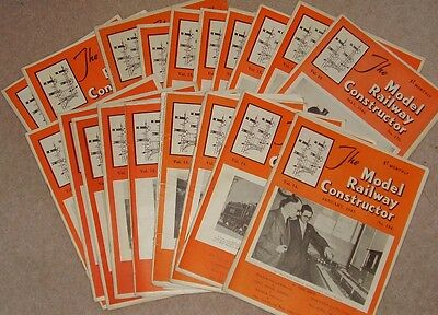 Job Lot 20 Vintage The Model Railway Constructor Magazines 1947 - 1949