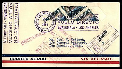 Guatemala 1951 Certified cover Returned to Sender