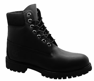 Timberland AF 6 Inch Premium Mens Boots Black Leather Lace Up 10054 T3