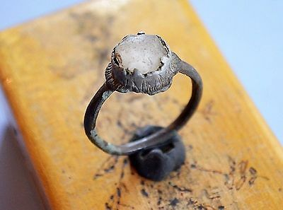Medievil Viking Period Silver ring with gemstone
