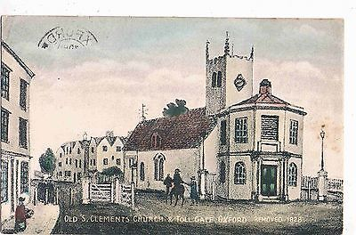 Oxfordshire - Cpc - Old View Of Old St. Clements Church & Toll Gate, Oxford,1908