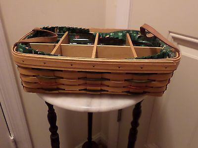 1998Longaberger  Woven Traditions Pantry Basket Combo Wood Divider