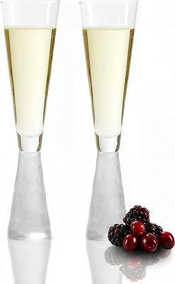 Andrew James Champagne Flutes Wine Prosecco Drinking Glass Set Of 2 Gift Set