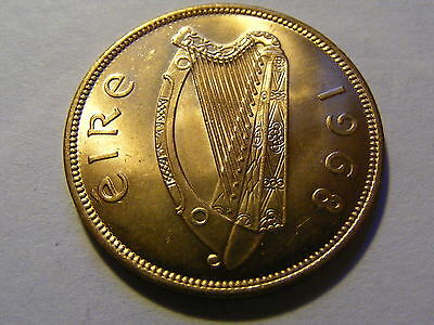 A 1968 Ireland Chicken One Penny Coin  - UNC or near UNC much Lustre -