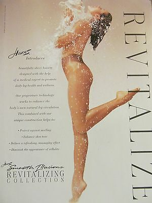 Hanes Revitalizing Collection, Hosiery, Nylons, Full Page Ad