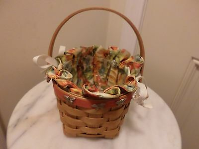 2007 Longaberger Mothers Day Basket Butterfly Nails Trim A Home Sweet