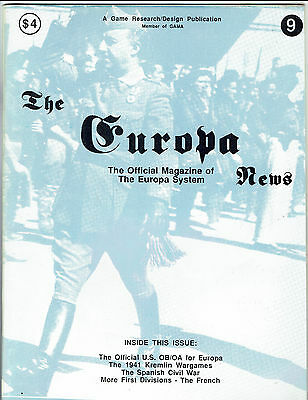 The Europa News - Issue 9 from 1989 - by Games Research/Design (GR/D)