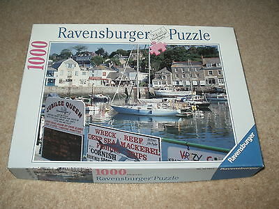 """Ravensburger 1000 Piece Jigsaw - """"padstow Harbour,cornwall"""" Excellent Condition"""
