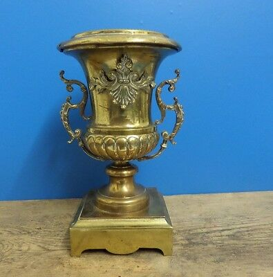 Original Antique Victorian Brass Urn / Vase