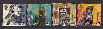 GB 1999 QE2 The Settlers Tale Used set of 4 stamps ( A1489 )