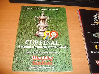 1979 FA CUP FINAL ARSENAL v MANCHESTER UNITED