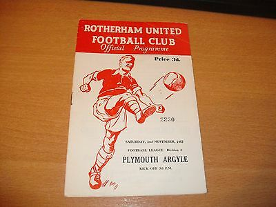 1963 - 1964 ROTHERHAM v PLYMOUTH  LGE