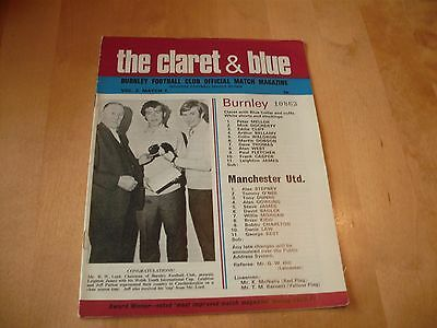 1971 BURNLEY v MANCHESTER UNITED LEAGUE CUP