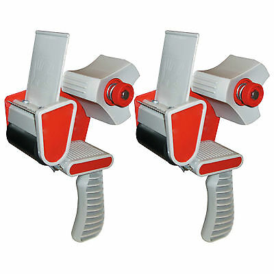 "2 x BRAND NEW HEAVY DUTY BOX PACKING PACKAGING TAPE GUN DISPENSER 50mm (2"")"
