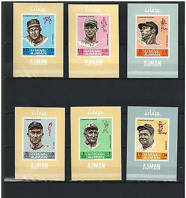 AJMAN, Stamps, BASEBALL, Sports, MINT NH - DELUXE
