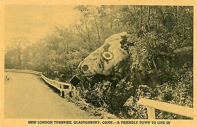 "Glastonbury, Conn. New London Turnpike ""colotype"" Postcard"