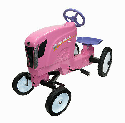 New Holland T7 Pink Pedal Tractor New In Box
