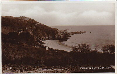 Guernsey - Fermain Bay - Posted 1934 - Rp - (F280)